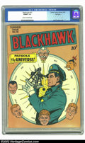 Golden Age (1938-1955):War, Blackhawk #15 Big Apple pedigree (DC, 1947) CGC FN/VF 7.0 Cream tooff-white pages. Reed Crandall cover. Overstreet 2002 FN ...