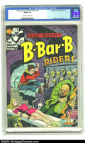 Golden Age (1938-1955):Horror, Bobby Benson's B-Bar-B Riders #14 (Magazine Enterprises, 1952) CGCFN/VF 7.0 Cream to off-white pages. Decapitation/bondage ...