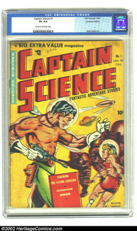 Captain Science #1 (Youthful Magazines, 1950) CGC VG 4.0 Cream to off-white pages. Wally Wood art. Canadian edition. Ove...