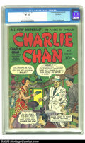 Golden Age (1938-1955):Crime, Charlie Chan #1 Bethlehem pedigree (Crestwood/Headline, 1948) CGC VF- 7.5 Off-white pages. This scarce book features a cover...