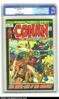 Bronze Age (1970-1979):Miscellaneous, Conan The Barbarian #17 (Marvel, 1972) CGC NM 9.4 Off-white pages.Kane art, Kane/Brunner cover. Overstreet 2002 NM 9.4 valu...