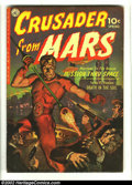 Golden Age (1938-1955):Science Fiction, Crusader from Mars #1 (Ziff-Davis, 1952) Condition: VG/FN.Beautiful Saunders painted cover on this tough first issue.Overs...