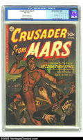 Golden Age (1938-1955):Science Fiction, Crusader from Mars #1 (Ziff-Davis, 1952) CGC VG 4.0 Cream tooff-white pages. George Roussos art. Overstreet 2002 GD 2.0 val...