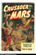 Golden Age (1938-1955):Science Fiction, Crusader from Mars #2 (Ziff-Davis, 1952) Condition: VG/FN. AwesomeSaunders bondage painted cover. Overstreet 2002 GD 2.0 va...