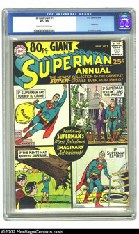 80 Page Giant #1 (DC, 1964) CGC VF- 7.5 Cream to off-white pages. Superman Annual. Curt Swan cover and art. Overstreet 2...