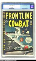 Golden Age (1938-1955):War, Frontline Combat #8 (EC, 1952) CGC VF 8.0 Off-white pages.Overstreet 2002 VF 8.0 value = $119....