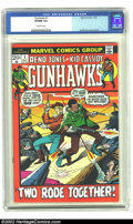 Bronze Age (1970-1979):Western, Gunhawks #1 (Marvel, 1972) CGC VF/NM 9.0 Off-white pages. Syd Shores cover and art. Great Bronze Age western featuring Reno ...