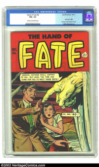 The Hand of Fate #8 (Ace, 1951) CGC FN+ 6.5 Cream to off-white pages. First issue of title. Formerly Men Against Crime...