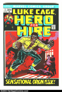 Hero for Hire #1 (Marvel, 1972) Condition: VF. Overstreet 2002 VF 8.0 value = $42. From the collection of Bobby Harmon...