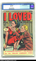 Golden Age (1938-1955):Romance, I Loved #29 (Fox, 1949) CGC FN+ 6.5 Light tan to off-white pages.Overstreet 2002 FN 6.0 value = $21. ...