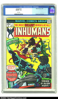 The Inhumans #1 (Marvel, 1975) CGC NM/MT 9.8 White pages. Gil Kane cover, George Perez art. Overstreet 2002 NM 9.4 value...