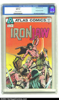 Bronze Age (1970-1979):Superhero, Ironjaw #1 (Atlas, 1975) CGC NM 9.4 Off-white to white pages. First appearance of Ironjaw. Neal Adams cover. Overstreet 2002...