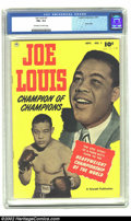 Golden Age (1938-1955):Non-Fiction, Joe Louis #1 (Fawcett, 1950). CGC FN+ 6.5 Off-white to white pages.Photo cover; life story of Joe Louis. Overstreet 2002 FN...