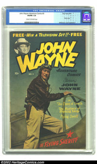 John Wayne Adventure Comics #3 (Toby Publishing, 1950) CGC VG/FN 5.0 Cream to off-white pages. Williamson and Frazetta a...