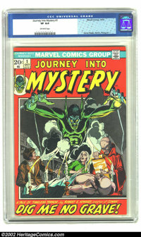 Journey into Mystery #1 (Marvel, 1972) CGC VF 8.0 Off-white pages. Robert Howard adaptation. Gil Kane, Jim Starlin and M...