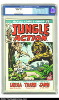 Bronze Age (1970-1979):Miscellaneous, Jungle Action #1 (Marvel, 1972) CGC VF/NM 9.0 Off-white pages.Features Lorna, Queen of the Jungle, and Jann of the Jungle. ...