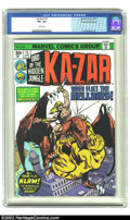 Bronze Age (1970-1979):Miscellaneous, Ka-Zar #15 30 Cent Price Variant (Marvel, 1976) CGC VF+ 8.5 Whitepages. While the vast majority of the copies of this issue...