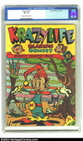 Golden Age (1938-1955):Funny Animal, KrazyLife #1 (Fox, 1945) CGC VF- 7.5 Cream to off-white pages.Overstreet 2002 VF 8.0 value = $88. ...
