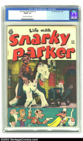 Golden Age (1938-1955):Cartoon Character, Life with Snarky Parker #1 (Fox, 1950) CGC FN/VF 7.0 Cream to off-white pages. Early TV comic. Photo cover from TV show. Ove...