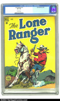 Golden Age (1938-1955):Western, Lone Ranger, The #12 (Dell, 1949) CGC VF- 7.5 Off-white pages. Overstreet 2002 VF 8.0 value = $84. ...