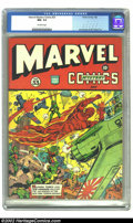Golden Age (1938-1955):Superhero, Marvel Mystery Comics #33 (Timely, 1942) CGC NM- 9.2 Off-white pages. This is a once in a lifetime chance, as this is the hi...