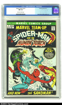 Marvel Team-Up #1 (Marvel, 1972) CGC NM 9.4 Off-white to white pages. Extremely tough in high-grade because of the black...
