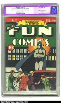 More Fun Comics #52 (DC, 1940) CGC Apparent VG/FN 5.0 Moderate (A) Off-white to white pages. One of the rarest and most...