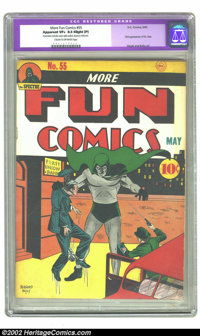 More Fun Comics #55 (DC, 1940) CGC Apparent VF+ 8.5 Slight (P) Cream to off-white pages. The first appearance and origin...