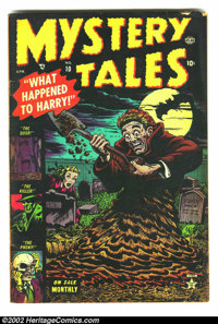 """Mystery Tales #10 (Atlas, 1953) Condition: VG-. Story similar to """"The Assassin"""" from Shock SuspenStories. Bill..."""