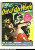 Golden Age (1938-1955):Science Fiction, Out of This World #1 (Avon, 1950) Condition: VG+. Beautifulcomic/pulp hybrid. Overstreet 2002 GD 2.0 value = $64; FN 6.0 va...