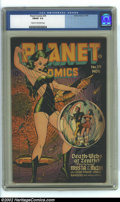 Golden Age (1938-1955):Science Fiction, Planet Comics #39 (Fiction House, 1945) CGC FN/VF 7.0 Cream tooff-white pages. Renee cover, Elias art. Overstreet 2002 FN 6...