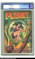 Golden Age (1938-1955):Science Fiction, Planet Comics #44 (Fiction House, 1946) CGC VF- 7.5 Light tan tooff-white pages. Joe Doolin cover. Anderson, Renee, Moreira...