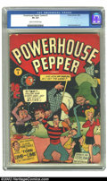 Golden Age (1938-1955):Cartoon Character, Powerhouse Pepper Comics #1 (Timely, 1943) CGC VG 4.0 Cream tooff-white pages. Basil Wolverton art. Overstreet 2002 GD 2.0 ...