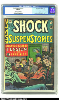 Shock SuspenStories #1 (EC, 1952) CGC FN 6.0 Cream to off-white pages. Classic Feldstein electrocution cover. Kamen, Ing...