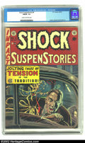 Golden Age (1938-1955):Horror, Shock SuspenStories #4 (EC, 1952) CGC FN/VF 7.0 Cream to off-whitepages. Used in Seduction of the Innocent. Kamen, Wood...