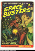 Golden Age (1938-1955):Science Fiction, Space Busters #2 (Ziff-Davis, 1952) Condition: FN-. Kinstler artand Norman Saunders painted cover. Overstreet 2002 FN 6.0 v...
