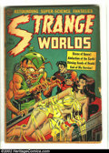 Golden Age (1938-1955):Horror, Strange Worlds #5 (Avon, 1951) Condition: FA/GD. Overstreet 2002 GD2.0 value = $59.  From the collection of Bobby Harmon....