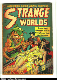 Strange Worlds #5 (Avon, 1951) Condition: FA/GD. Overstreet 2002 GD 2.0 value = $59. From the collection of Bobby Harmon...