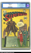 Golden Age (1938-1955):Superhero, Superman #16 (DC, 1942) Condition: VG- 3.5 Slightly brittle pages. It's a nice day for a stroll in the park on this, the fir...