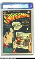 Golden Age (1938-1955):Superhero, Superman #77 (DC, 1952) CGC VF- 7.5 Cream to off-white pages. Mortimer cover, Boring art. Overstreet 2002 VF 8.0 value = $35...