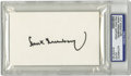 Autographs:Index Cards, Hank Greenberg Signed Index Card, PSA Authentic. High-quality black sharpie signature courtesy of the Tigers' Jewish slugge...