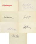 Autographs:Index Cards, Baseball Hall of Famers Signed Index Cards Group Lot of 26. Exceptional group of Cooperstown talent is represented with thi...