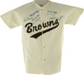 Autographs:Jerseys, Early 1950s St. Louis Browns Team Signed Jersey. Fine felt replicaof the home jerseys worn by the St. Louis Browns of the ...