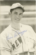 Autographs:Post Cards, Vince DiMaggio Signed Rowe Postcard. An example of the popular Rowe postcards, this example offers a glorious portrait of J...