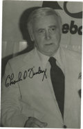 Autographs:Post Cards, Charlie O. Finley Signed Postcard. Eccentric former Kansas City andOakland Athletics owner Charles O. Finley was known for...