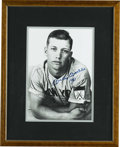 Autographs:Photos, Mickey Mantle Signed Photograph. Exquisite image of a boyish MickeyMantle makes for the perfect canvas for his unimprovabl...