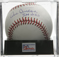 "Autographs:Baseballs, Don Sutton ""324 Wins"" Single Signed Baseball, PSA Mint 9. As far aspitchers go, it seems that 300 wins and 3,000 strikeout..."