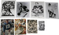 Football Collectibles:Balls, NFL Quarterbacks Signed Images Lot of 8. One of the NFL's past gunslingers has penned an excellent signature to the offered...
