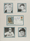Autographs:Others, Baseball Hall of Famers Signed First Day Cover. Attractive displaythat we offer here puts the signatures of four of the mo...