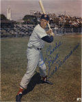 """Autographs:Photos, Ted Williams Signed Photograph. Classic 8x10"""" image of the SplendidSplinter, signed in perfect sharpie. LOA from PSA/DNA..."""